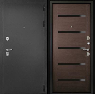 Дверь ДК Рубикон Царга  Венге (чёрное стекло) , цена 18 800 руб | Купить в интернет-магазине  в Екатеринбурге