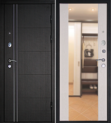 Входная дверь Теплолюкс Зеркало Беленый дуб, цена        26 990руб руб    , купить в интернет-магазине